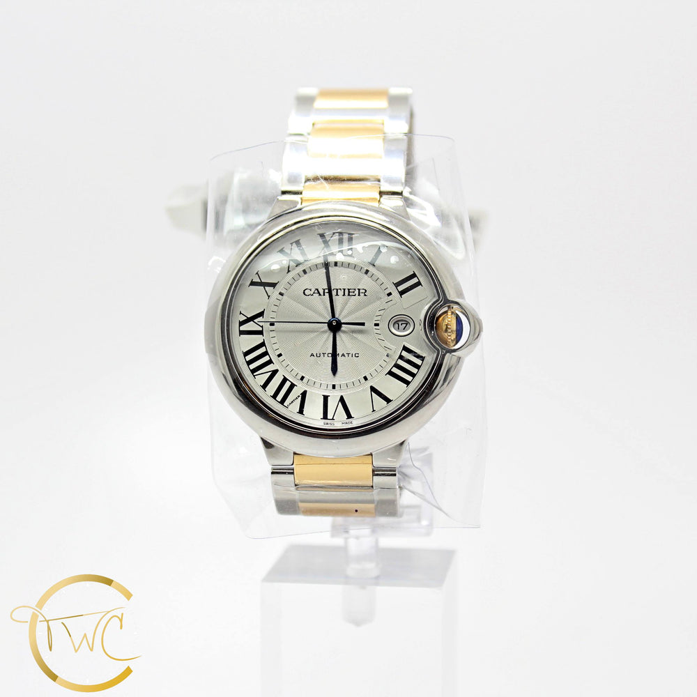 Cartier Ballon Bleu 42MM Stainless Steel and 18K Yellow Gold Ref W2BB0022