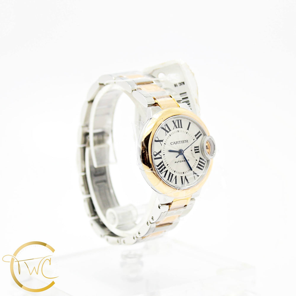 Cartier Ballon Bleu 33MM Stainless Steel and 18K Rose Gold Ref W2BB0023