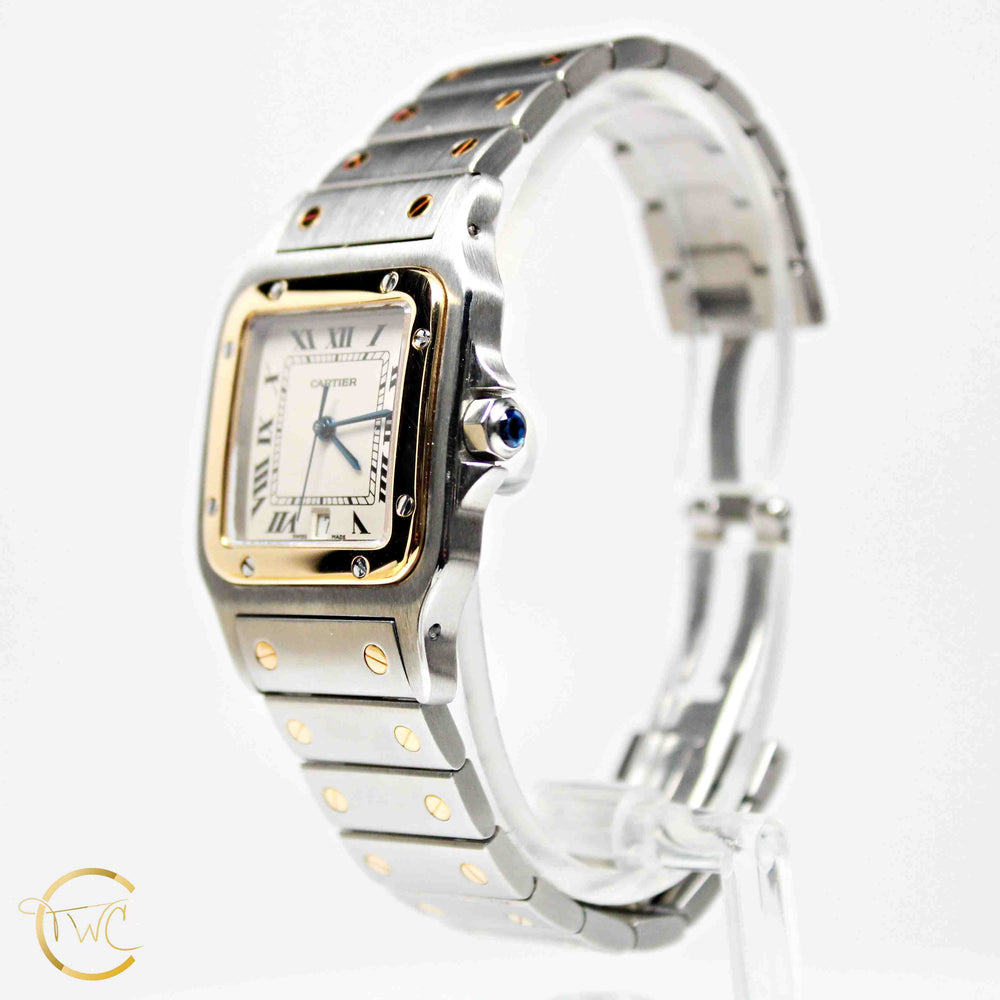 Santos Galbee de Cartier 18K Gold & Stainless Steel 30mm 187901