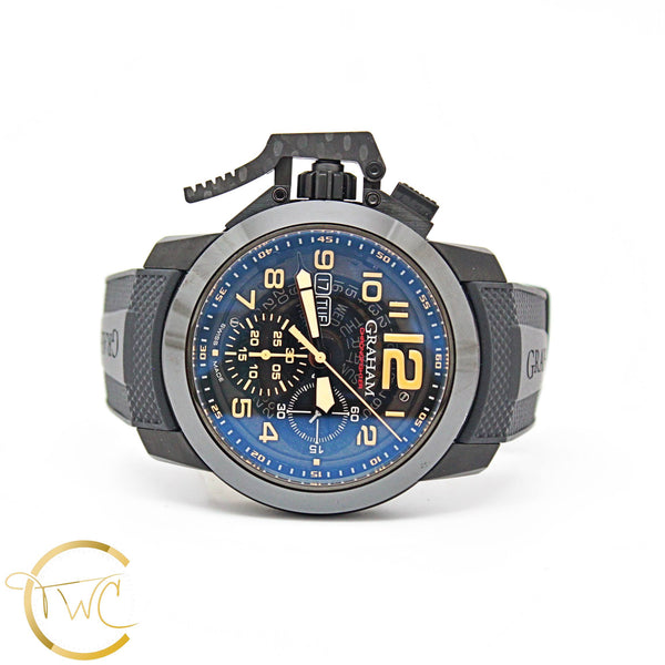 GRAHAM Chronofighter TARGET Oversize Steel Black PVD 47MM REF 2CCAU B32A