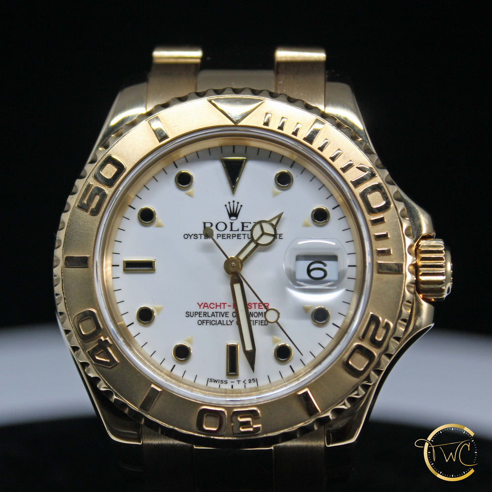 Rolex Yacht-Master Yellow Gold 44mm 1997 U Serial Ref 16628