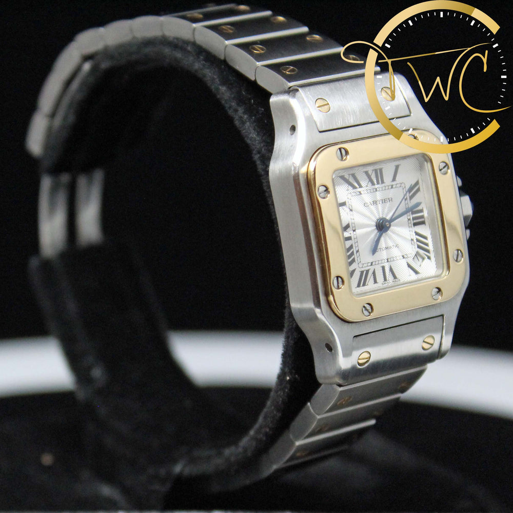 Cartier Santos Galbee Steel and Gold 24mm Small 2423
