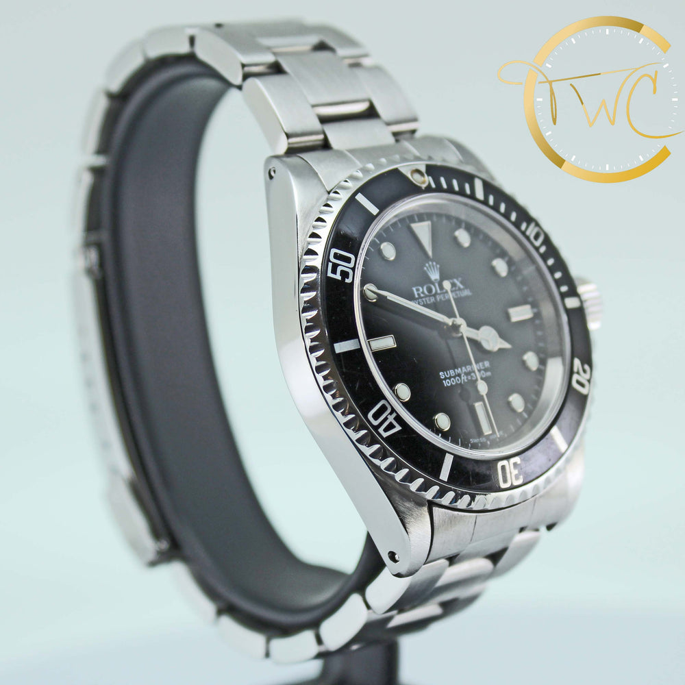 Rolex Submariner Stainless Steel 40mm 2000 P Serial Ref 14060