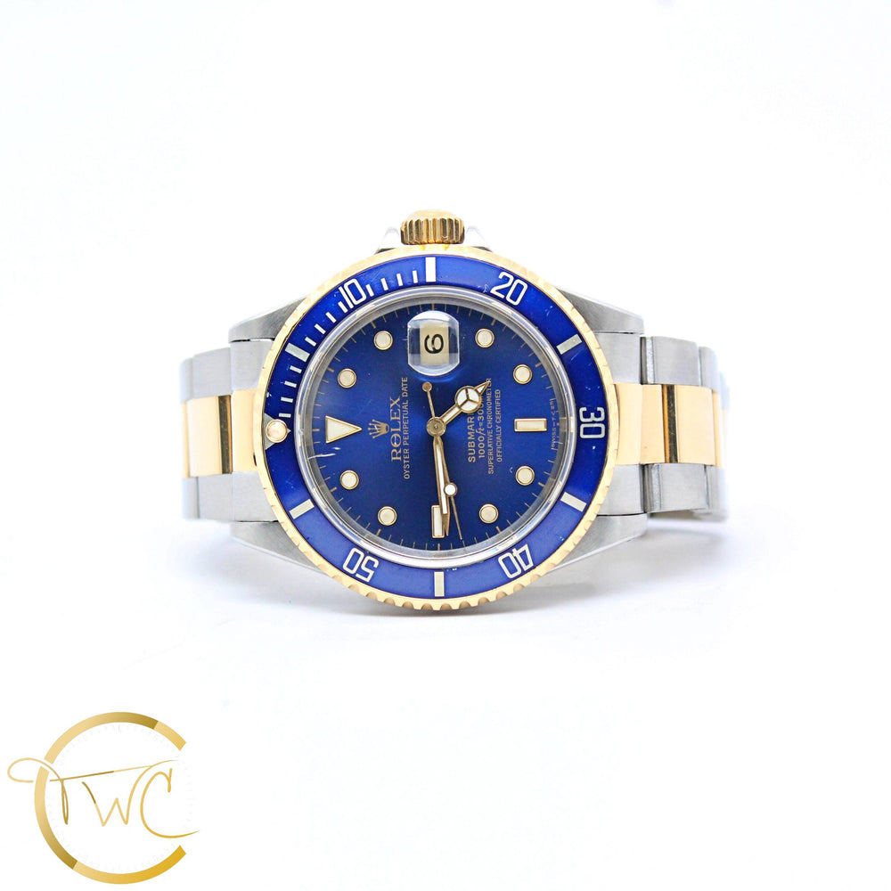 Rolex Submariner 40MM Stainless Steel and 18K Yellow Gold Ref 16613