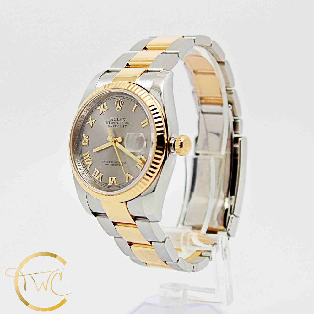 Rolex Datejust 36mm  Stainless Steel & 18k Gold 2006 Ref 116233