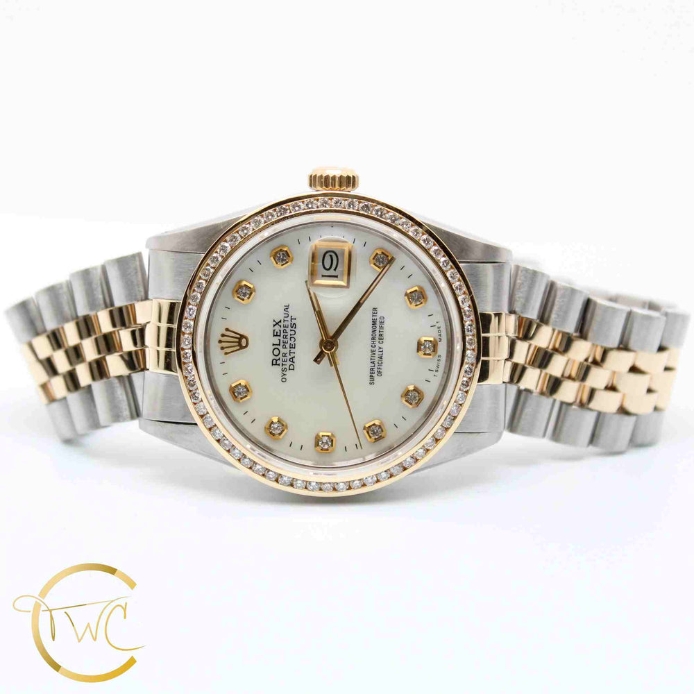 Rolex Datejust Stainless Steel and 18K Yellow Gold 36MM 16030