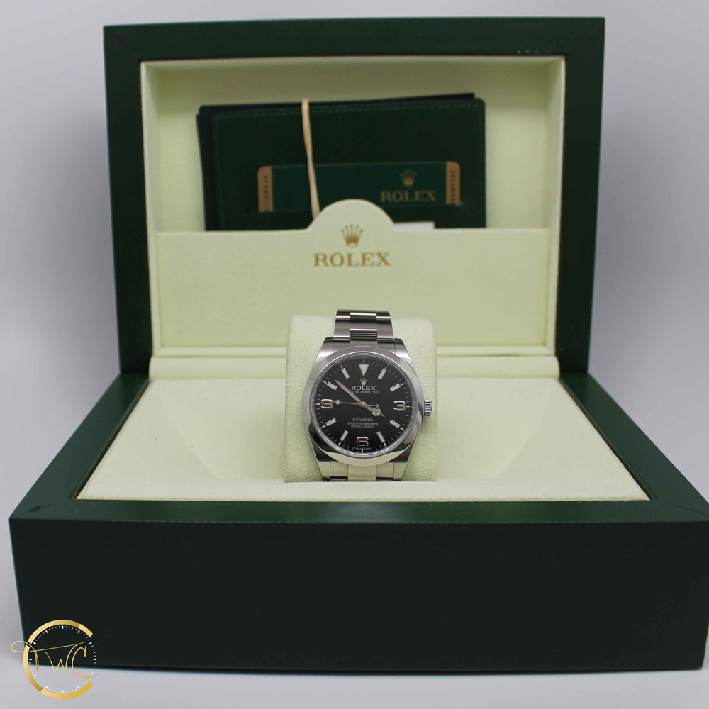 Rolex Explorer Black Dial Stainless Steel 214270