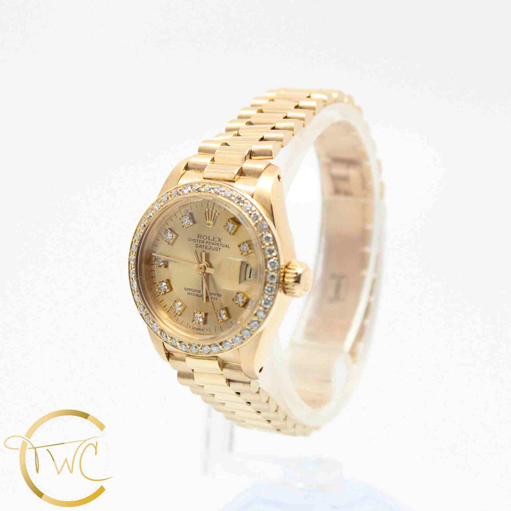 Rolex Ladies President 18K Yellow Gold 26MM 6917