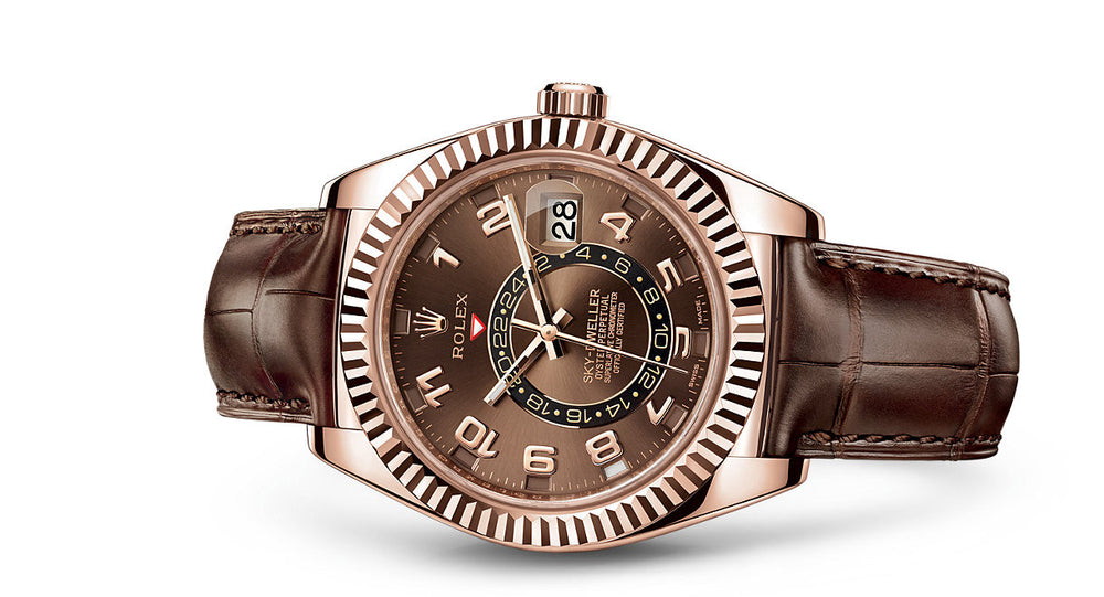 Rolex Sky-Dweller Everose Gold & Leather 42mm 326135