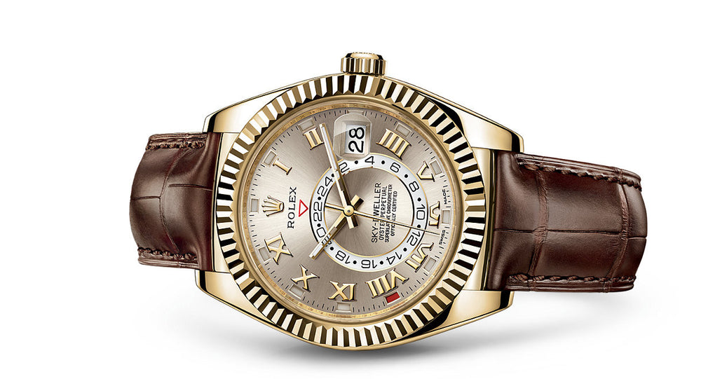 Rolex Sky-Dweller Leather & Yellow Gold 42mm 326138 BR