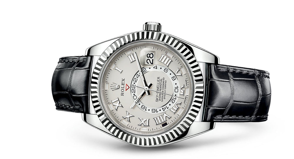 Rolex Sky-Dweller White Gold & Leather 42mm 326139