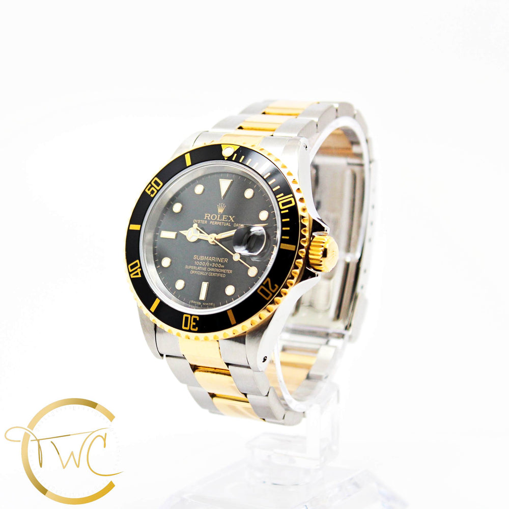 Rolex Submariner Date 40MM Stainless Steel and 18K Yellow Gold 16613