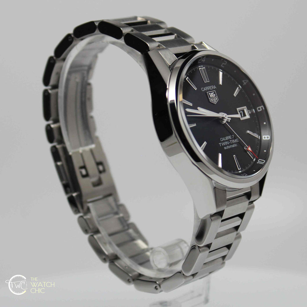 TAG Heuer Carrera Twin Time Steel 41mm WAR2010-BA0723