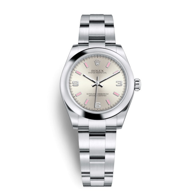 Rolex Oyster Perpetual 31MM Stainless Steel Silver Dial 177200