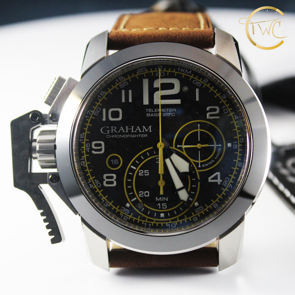 Graham Chronofighter Oversize Target Brown 2CCAC.B16A.L43S