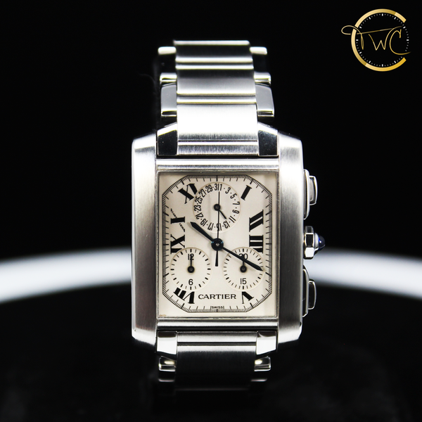 Cartier Tank Francaise Chronograph Stainless Steel 28mm 2303