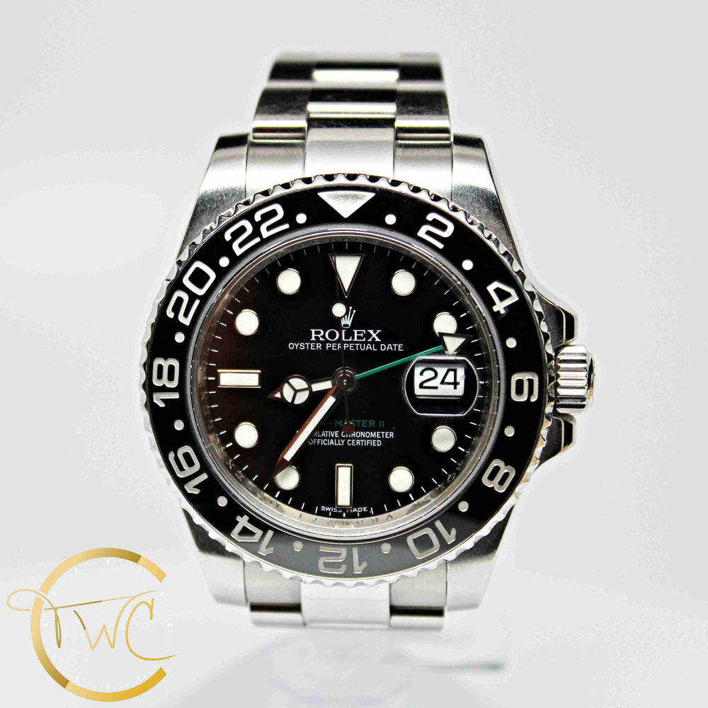 Rolex GMT Master II Steel 2008 V Serial 40mm 116710