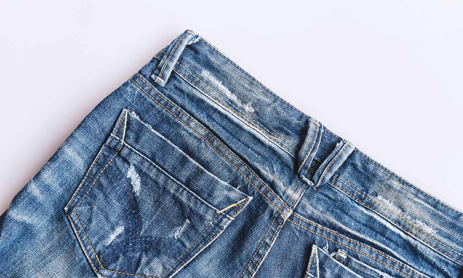 Damaged Denim Fibres