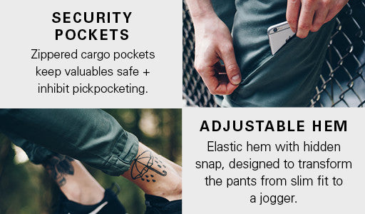 Features of the Live Lite Adventure Pants by DUER
