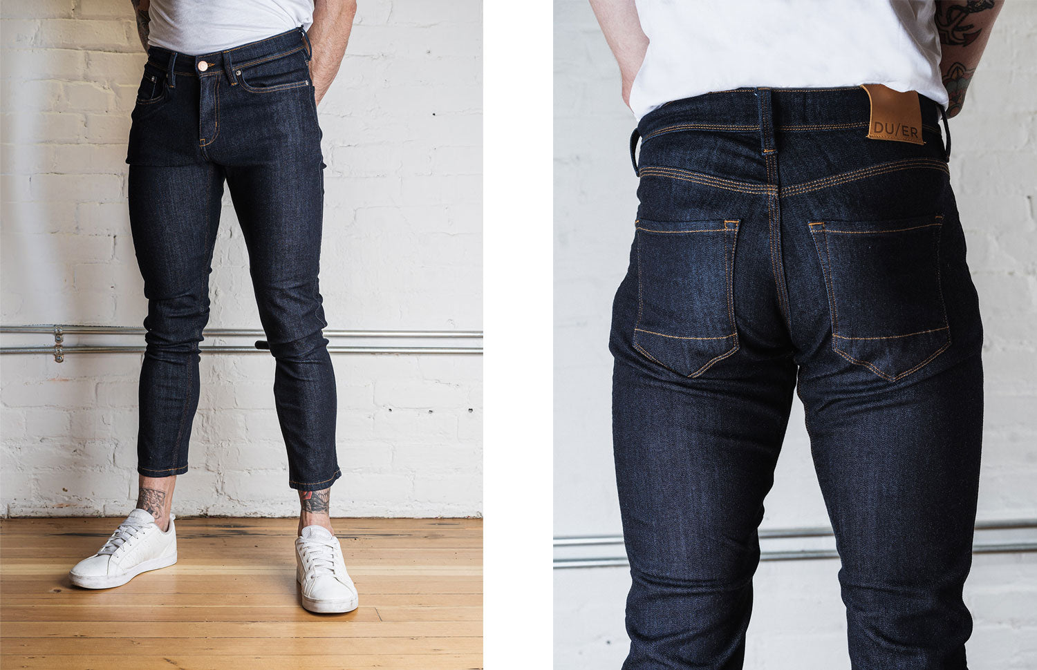 how shoude jeans fit on leg for men