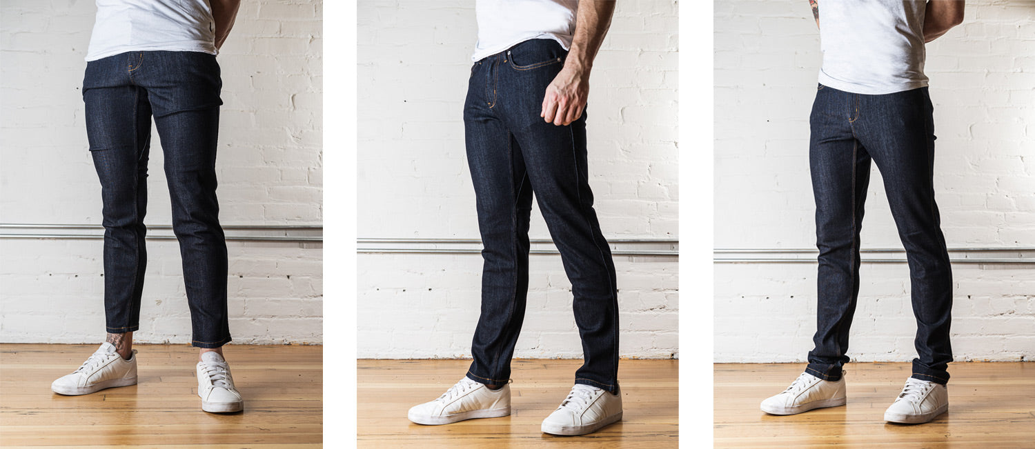 Men's Jeans at Different Lengths