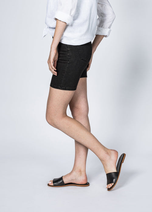Dish by DUER Adaptive Denim Mid Thigh Short - Volcanic