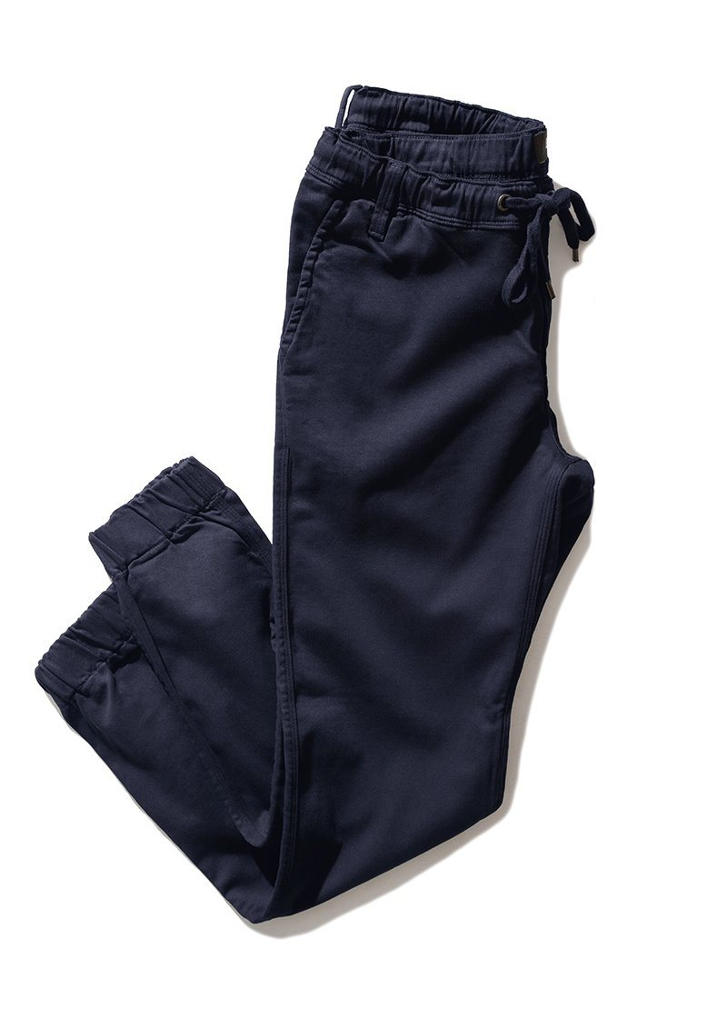 Men's Dark Blue Athletic Jogger Full Flatlay