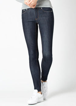 indigo skinny fit stretch jeans front