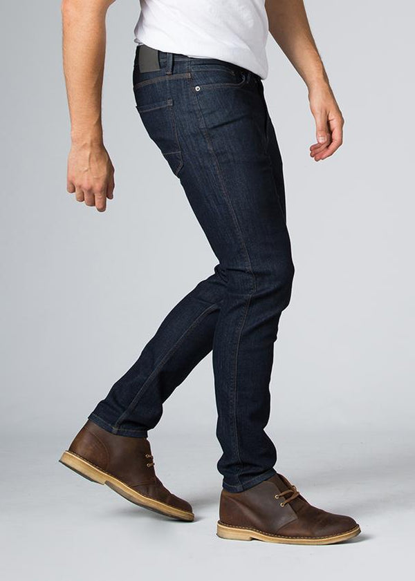 indigo water resistant stretch jeans side