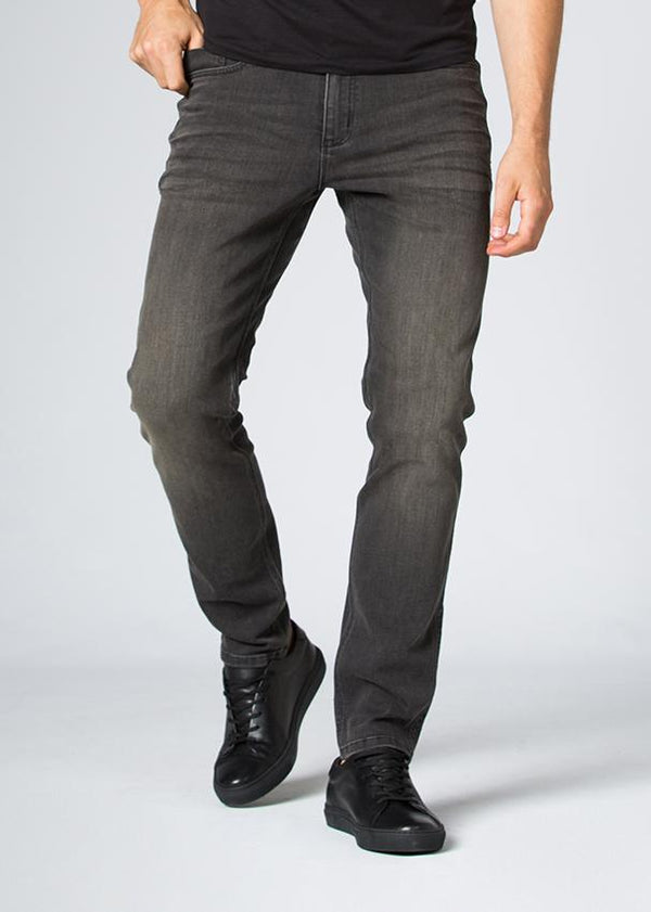 dark wash slim fit stretch jeans front