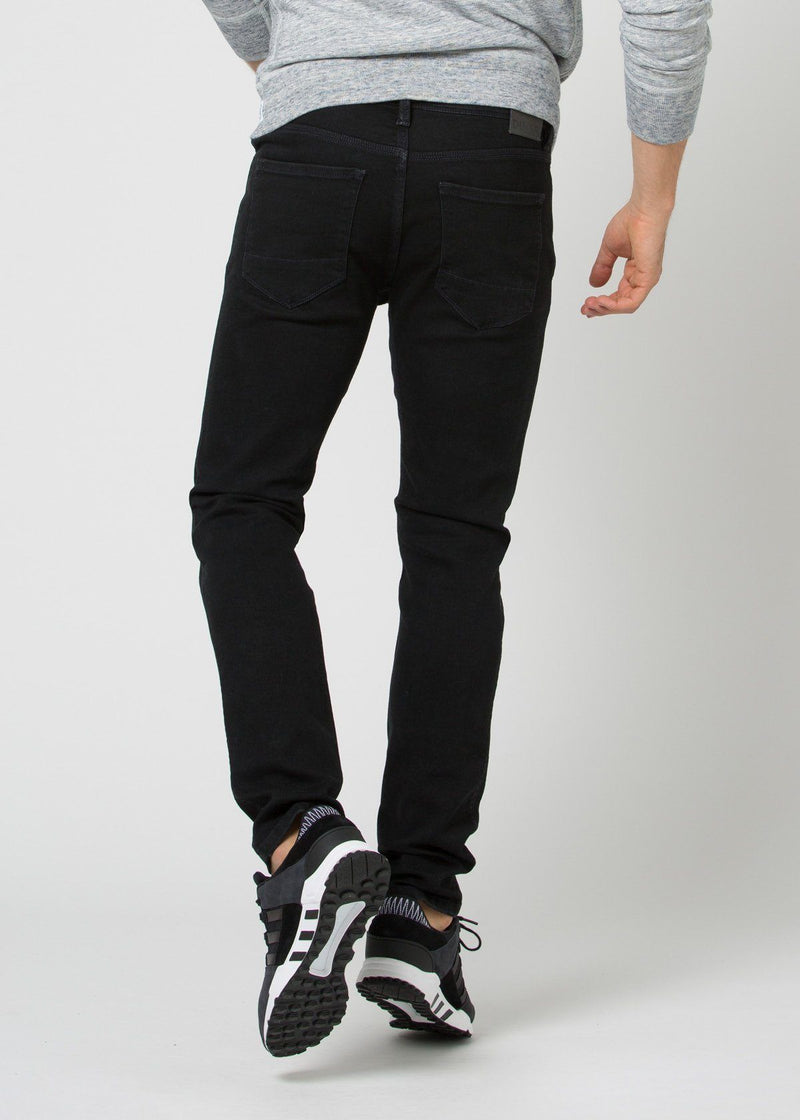black water resistant stretch jeans back
