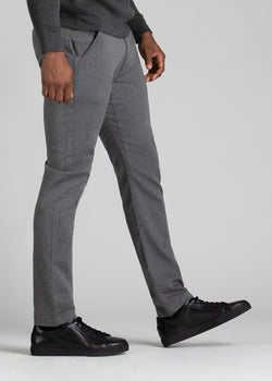 Mens heather grey slim fit chinos side