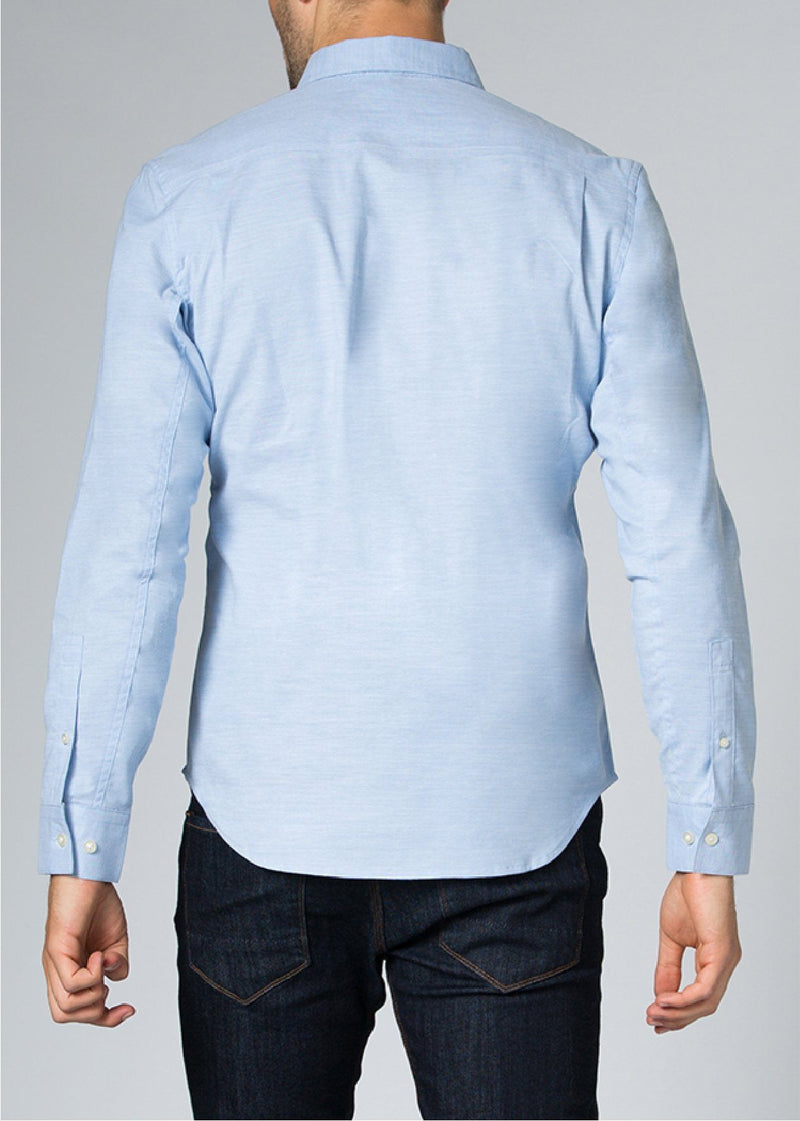 Men's 9 to 9 Button Down Shirt - Blue (Sold Out)