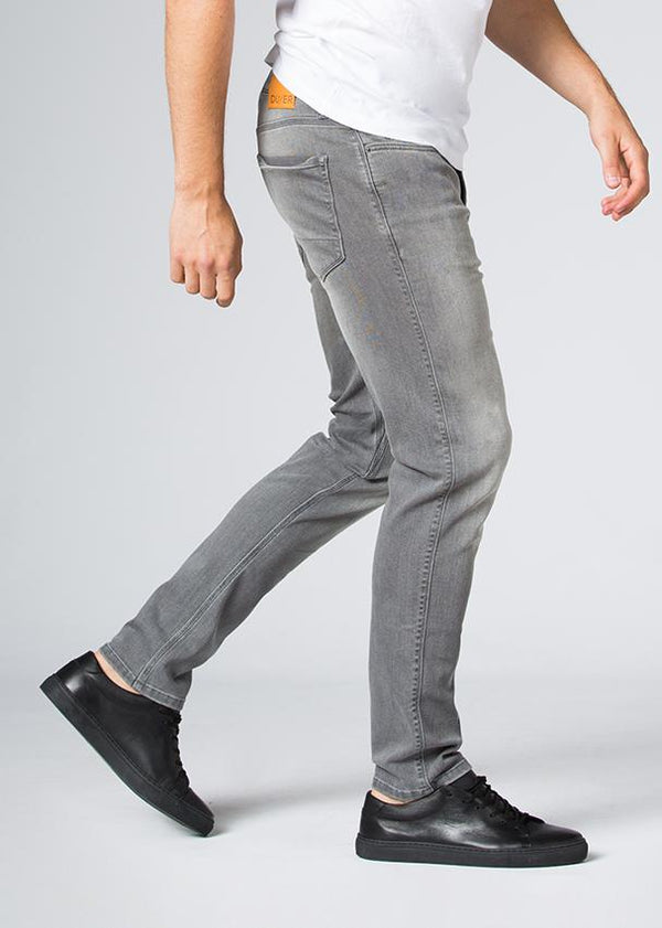 grey wash slim fit stretch jeans side