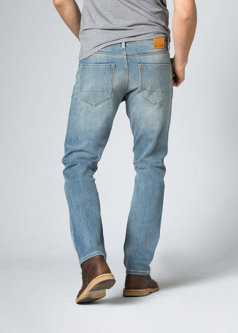 Midweight Light Blue Stretch Denim Back