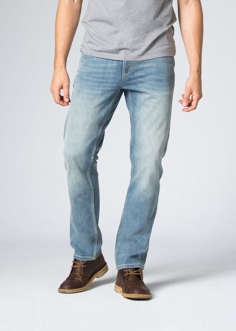 Midweight Light Blue Stretch Denim Front