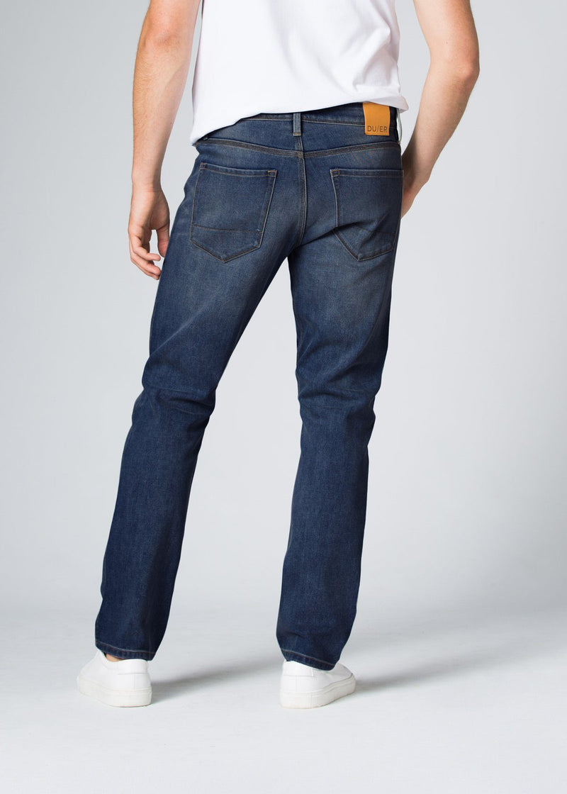 Midweight Medium Blue Stretch Denim Back