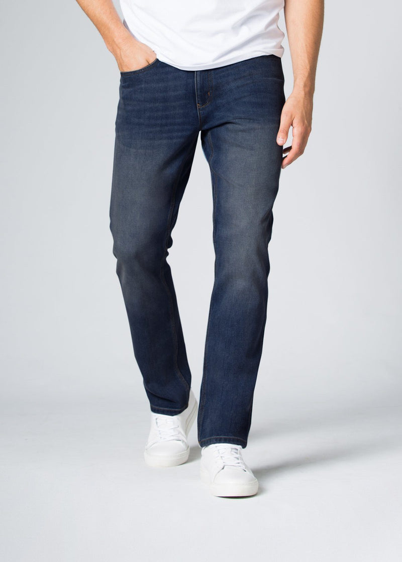 Midweight Medium Blue Stretch Denim Front