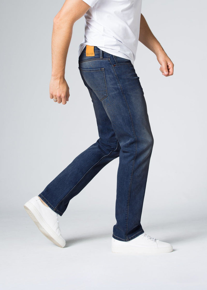 Midweight Medium Blue Stretch Denim Side
