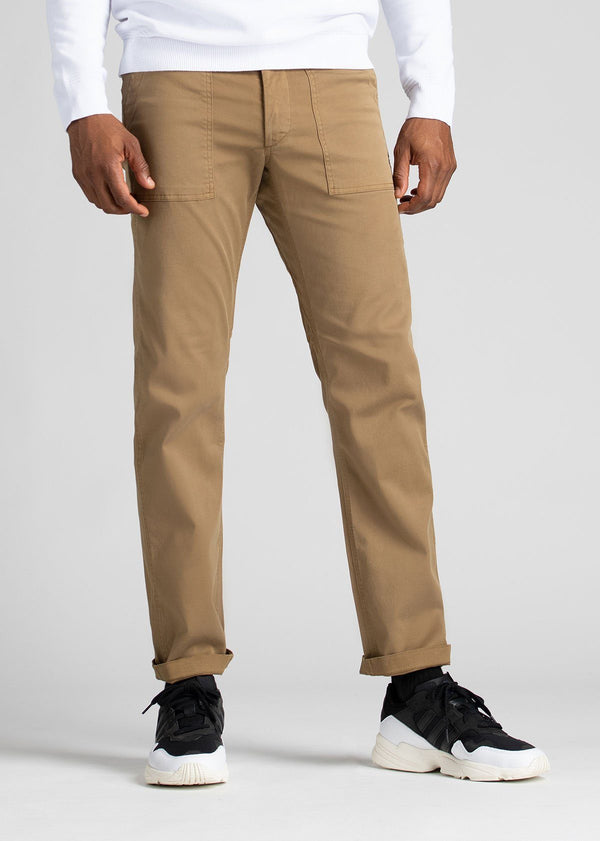 Man wearing brown Water resistant Pants front