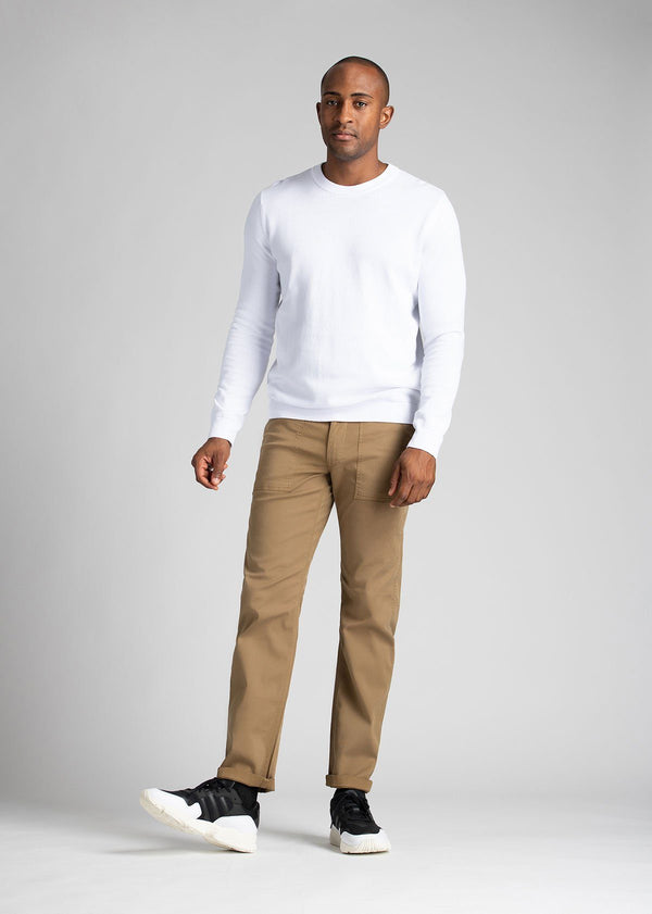 Man wearing brown Water resistant Pants full body
