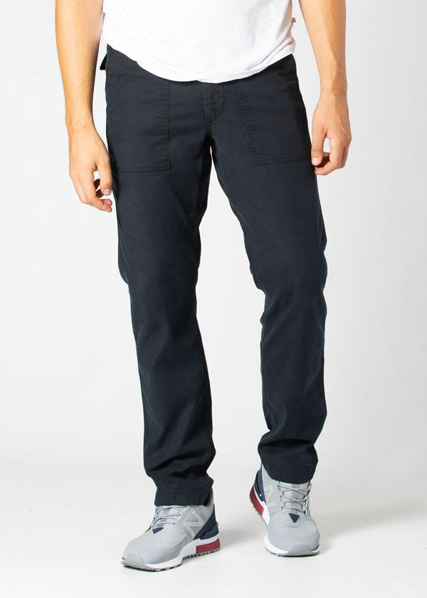 Man wearing navy blue Water resistant Pants front