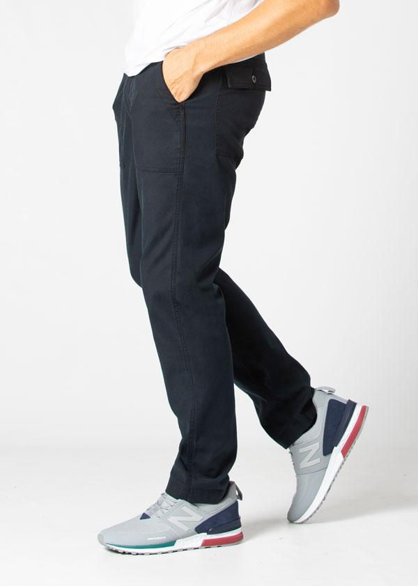 Man wearing navy blue Water resistant Pants side