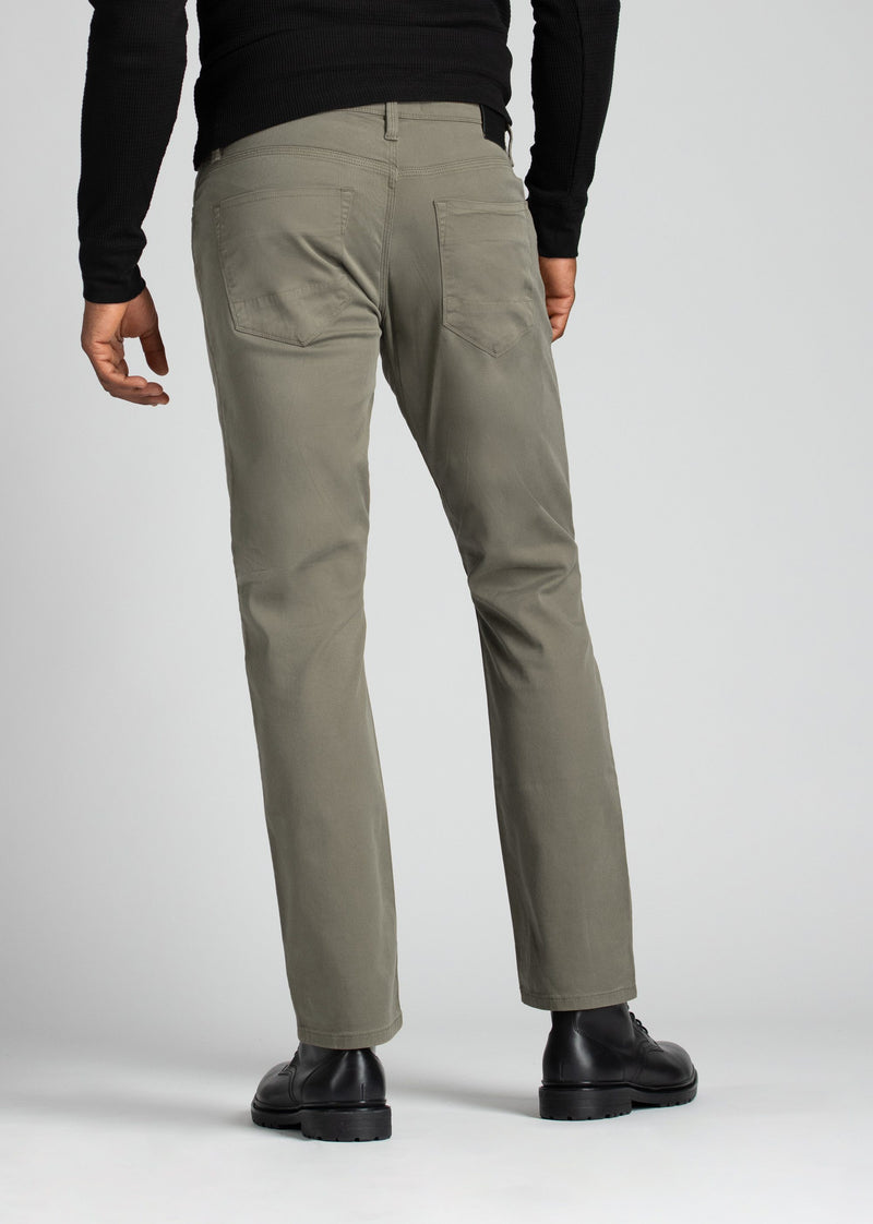 Mens Pale Green Straight Fit Lightweight Pant back