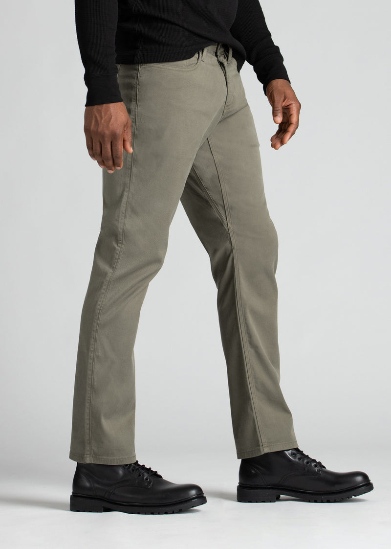 Mens Pale Green Straight Fit Lightweight Pant side