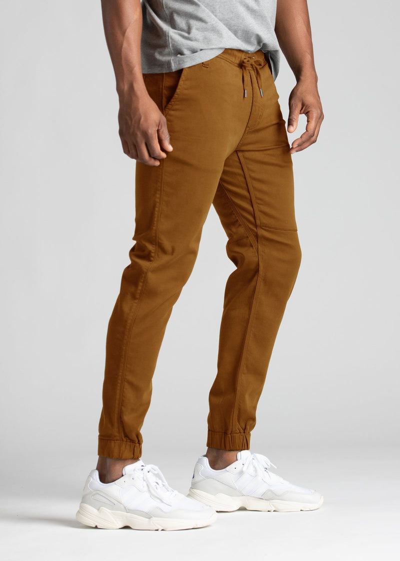 Mens orange athletic jogger side