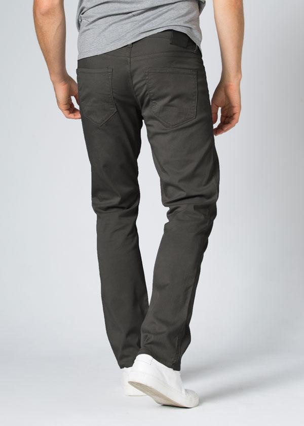 Mens Grey Straight Fit Lightweight Pant Back