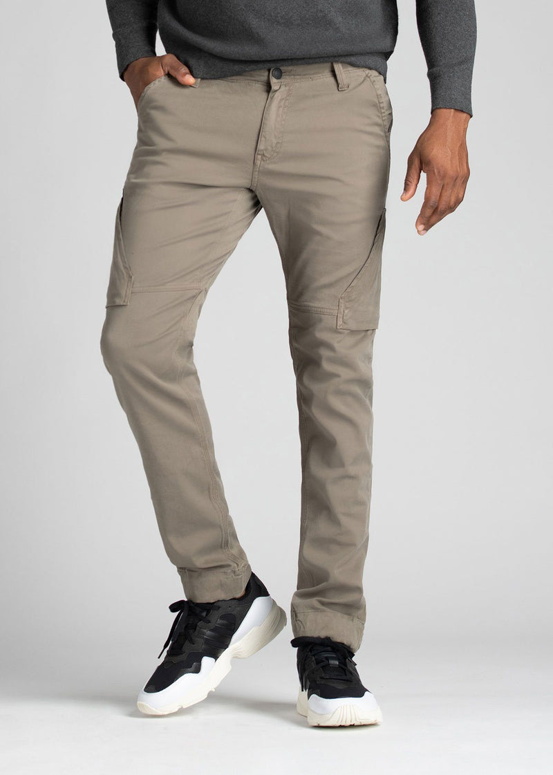 Mens Water Resistant Athletic Convertible Jogger Light Grey Front