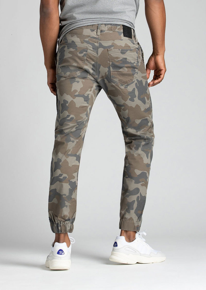 Mens Water Resistant Jogger Camo Coloured Back
