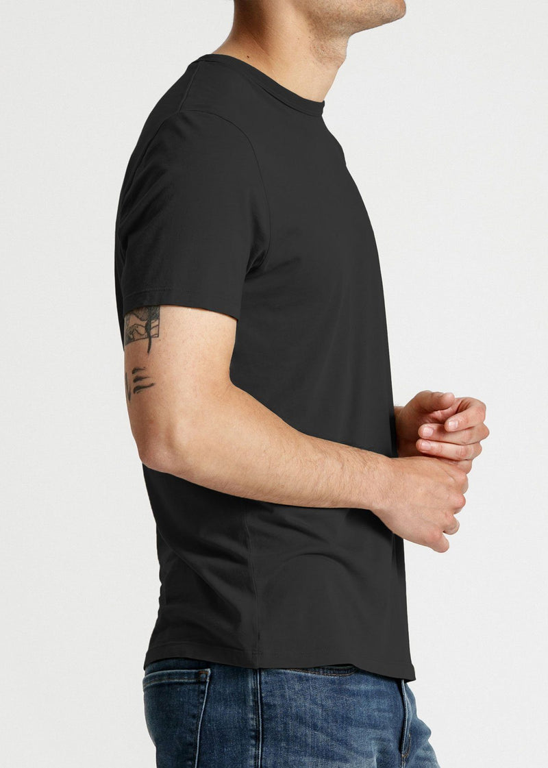 Mens soft lightweight black t-shirt side